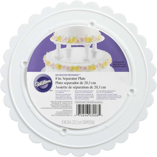 "Decorator Preferred 8"" Scalloped Separator Plate"