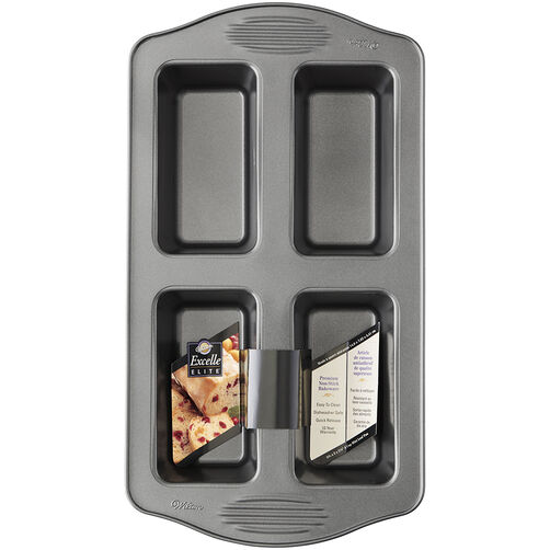4 Cavity Excelle Elite Mini Loaf Pan