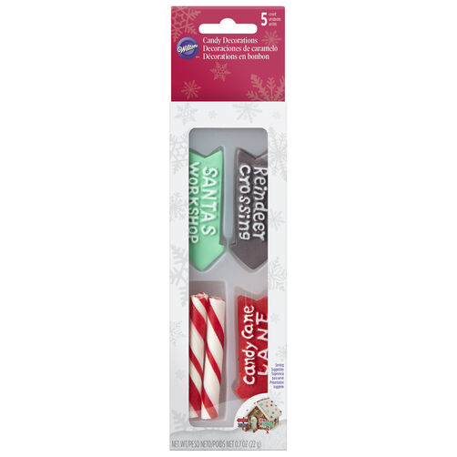 Candy Cane Pole and Signs