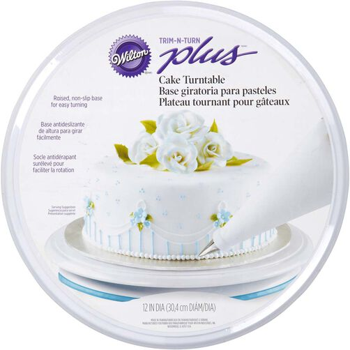 Trim 39 n turn plus cake turntable wilton for Michaels craft store cake decorating classes