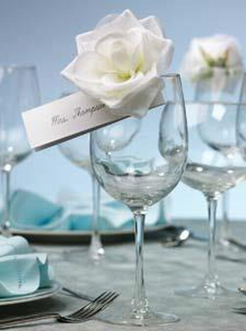 Clip-On Rose Place Card Holder