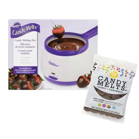 Light Cocoa Candy Melts and Melting Pot Set
