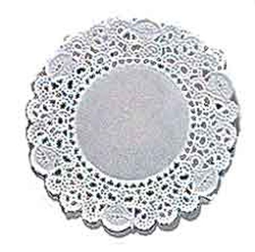 8 in. Round Grease-Proof White Doilies