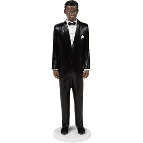 Classic Groom Wedding Cake Topper Figure