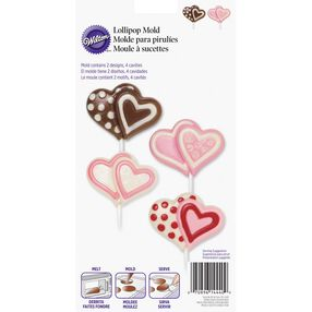 Double Heart Large Lollipop Mold