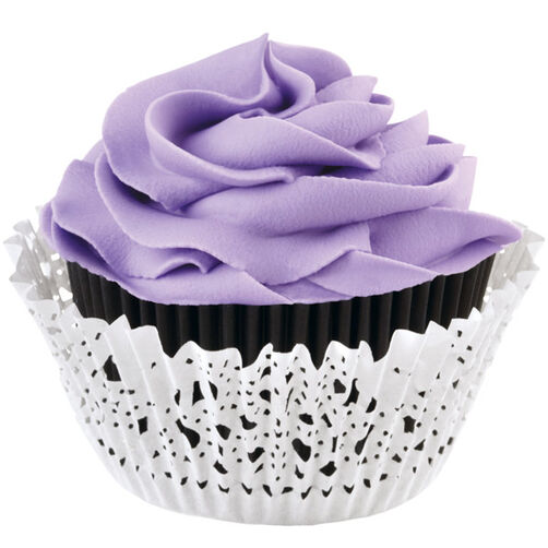 Black and White Doily Cupcake Liners & Wraps