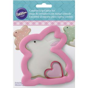 Comfort Grip Easter Bunny and Heart Cookie Cutter Set