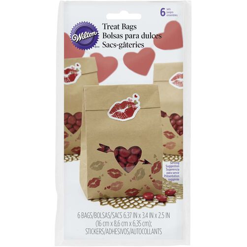 Valentine's Day Kisses Treat Bags