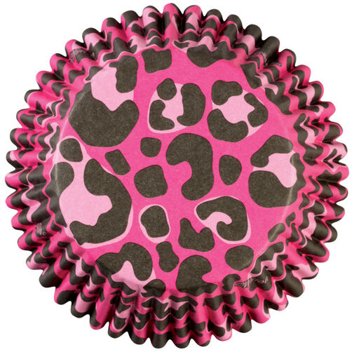 ColorCup Pink Leopard Cupcake Liners