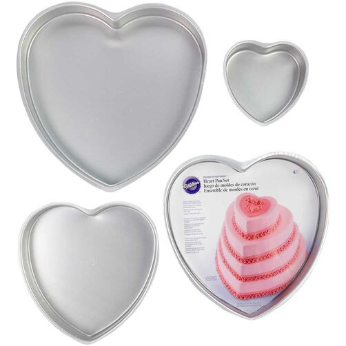 Decorator Preferred Heart Cake Pan Set Wilton