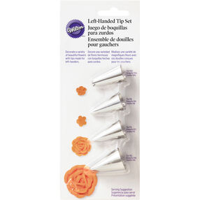 Left-Handed Decorators Flower Icing Tip Set