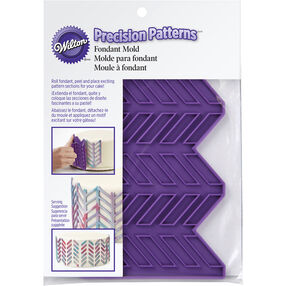 Precision Patterns Herringbone Fondant Mold