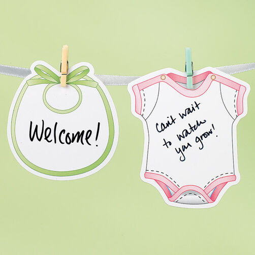 Baby Shower Autograph Garland Kit