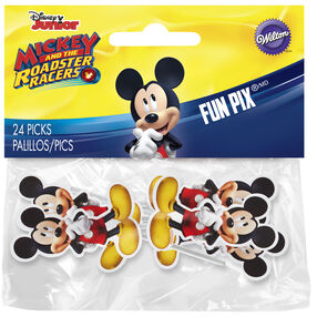 Mickey Roadster Fun Pix cupcake and treat toppers featuring Mickey Mouse