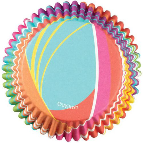 ColorCup Rainbow Stripes Cupcake Liners