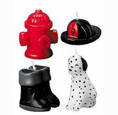 Firefighting 4-Piece Candle Set