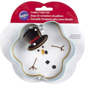 Wilton Christmas Melted Snowman Cookie Cutter Set