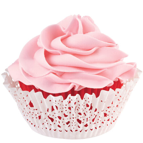 Red Doily Cupcake Liners & Wraps