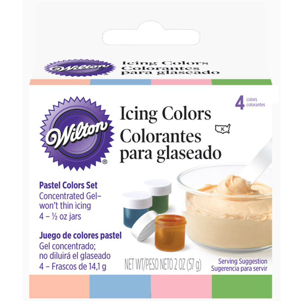 Pastel 4  Icing Colors Set  Wilton