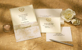 Wedding Toile Invitation (Gold) Kit