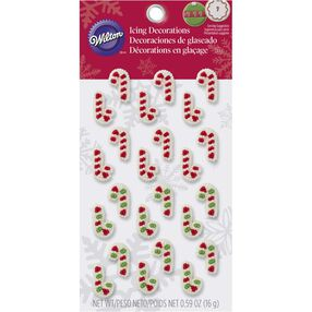 Wilton Mini Candy Cane Edible Cupcake Toppers