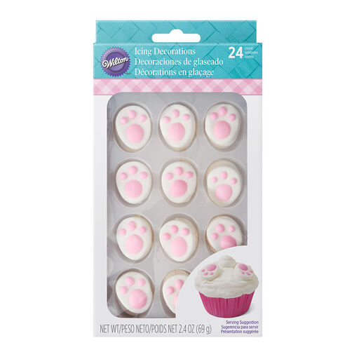 Easter Bunny Feet Icing Decorations