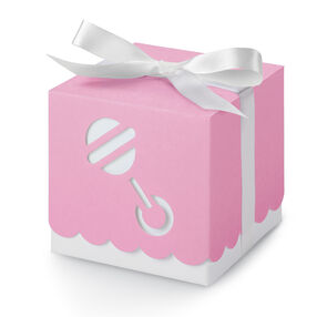 Pink Baby Rattle Gift Boxes