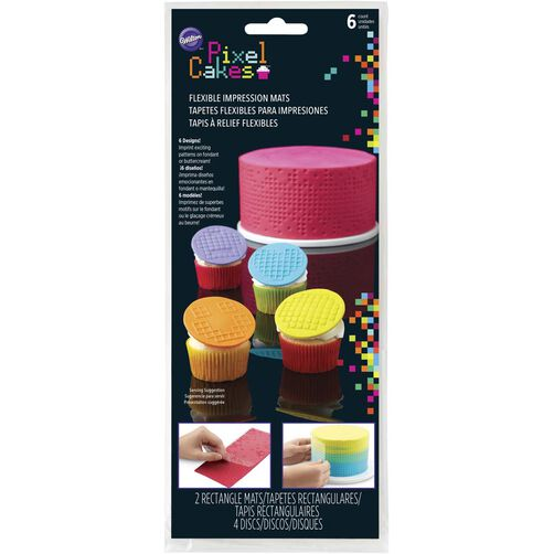 Pixel Cakes Flexible Impression Mats, 2-Piece