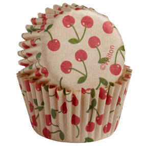 Unbleached Cherry Mini Cupcake Liners
