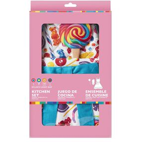 Dylans Candy Bar Kitchen Set with Apron, Oven Mitt and Spatula