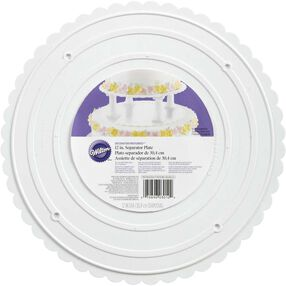 "Decorator Preferred 12"" Scalloped Separator Plate"