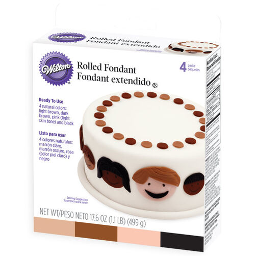 Rolled Fondant Natural Colors Multi-Pack