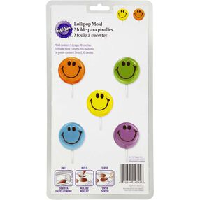 Smiley Face Lollipop Mold