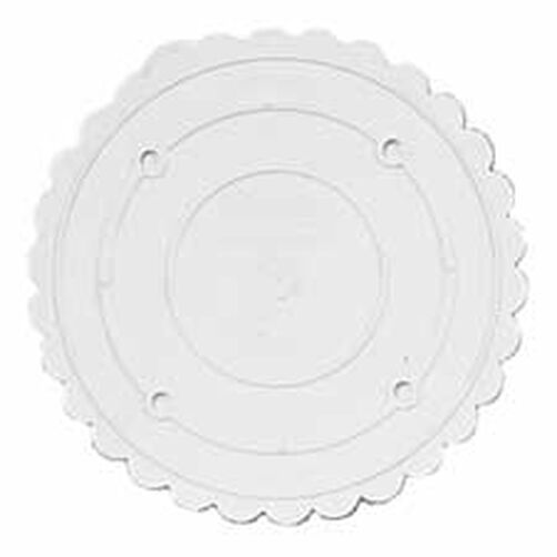 "Decorator Preferred 18"" Scalloped Separator Plate"