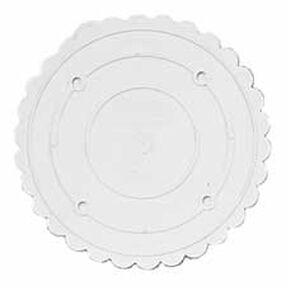 "Decorator Preferred 9"" Scalloped Separator Plate"