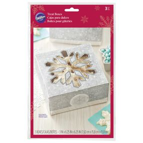 Silver Snowflake Treat Boxes