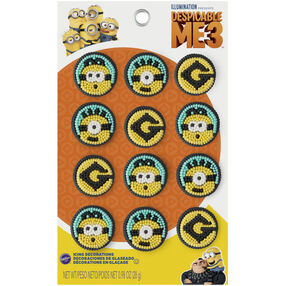 Despicable Me 3 Icing Decorations