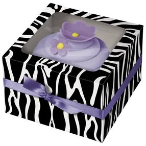 Zebra Cupcake Box- 3ct