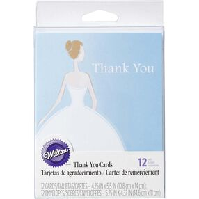 Bride Dress Thank You Cards