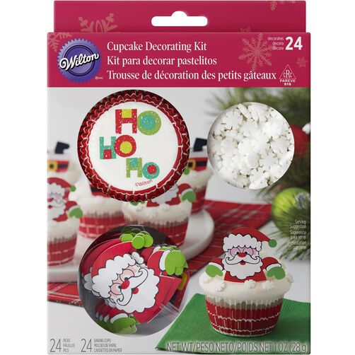 Santa Cupcake Decorating Kit
