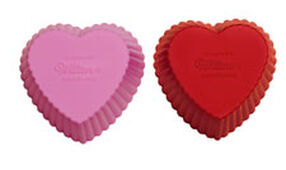Heart Silicone Cupcake Liners
