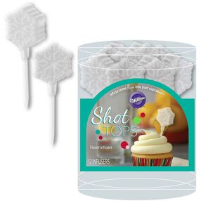 Snowflake Shot Tops Flavor Infusers & Cupcake Liners