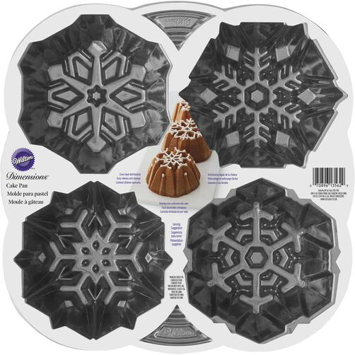 Wilton Dimensions Snowflaked Fluted Tube Pan