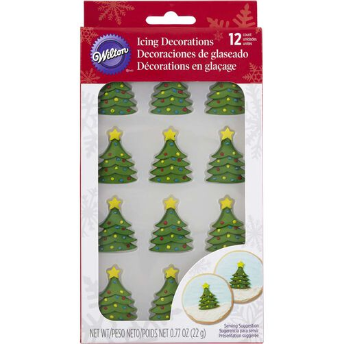 Christmas Tree Royal Icing Decorations