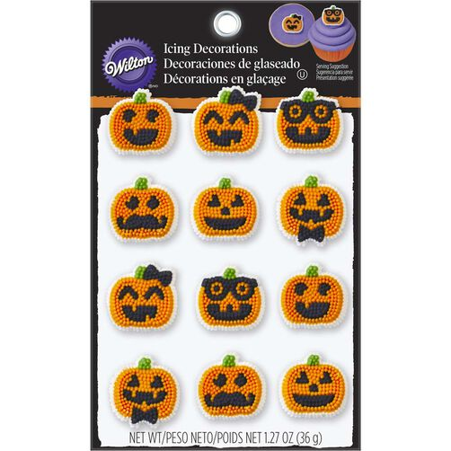 Wilton Halloween Jack-O-Lantern Candy Decorations