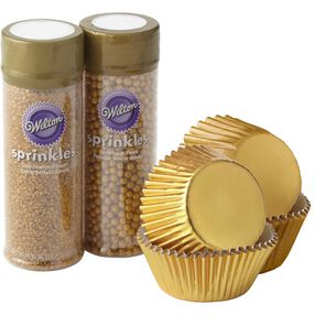 Sparkle & Shine Gold Cupcake Decorating Set
