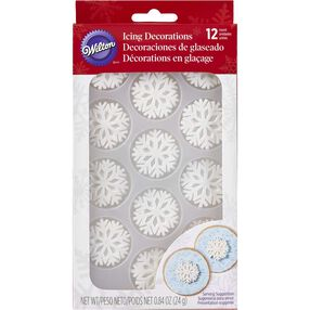Wilton Sparkle Snowflakes Icing Decorations