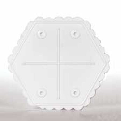 10 in. Hexagon Separator Plate