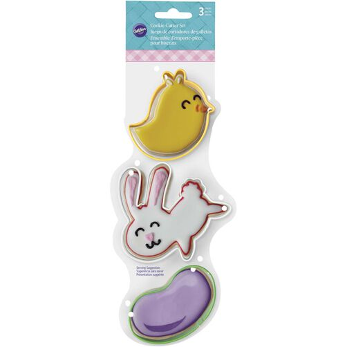 3 Piece Easter Cookie Cutter Set