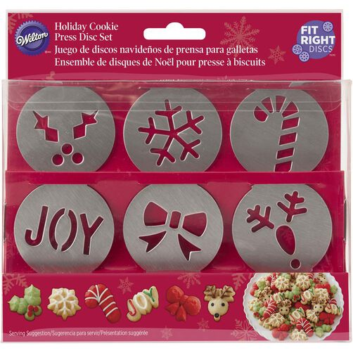 Wilton Fit Right Holiday Cookie Disc Set